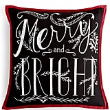 Merry and Bright Chalkboard Pillow