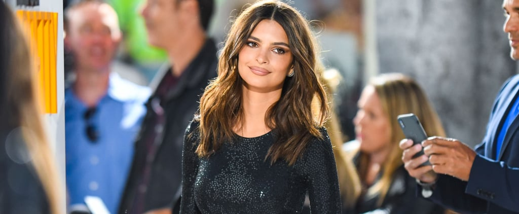 Emily Ratajkowski Black Michael Kors Dress