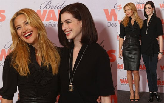 Photos of Kate Hudson and Anne Hathaway at Bride Wars Photo Call in Berlin