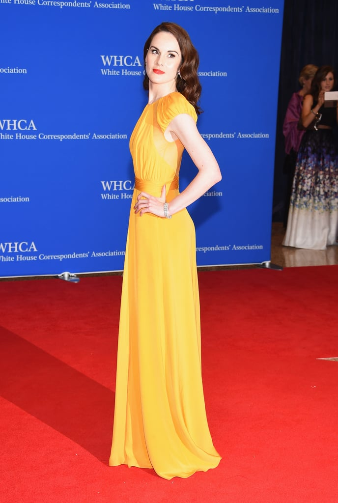 This vibrant hue lit up the red carpet.