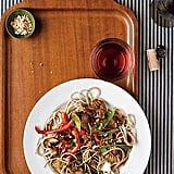 Slow-Cooker Asian Pork With Snow Peas, Bell Peppers, and Soba Noodles