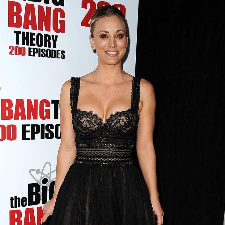 Kaley cuoco black dress big bang