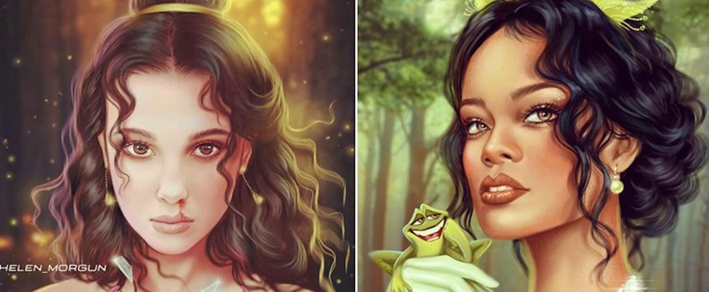Female Celebrities as Disney Princesses Artwork