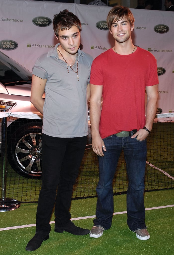 Ed Westwick and Chace Crawford stopped by a US Open event in August 2007.