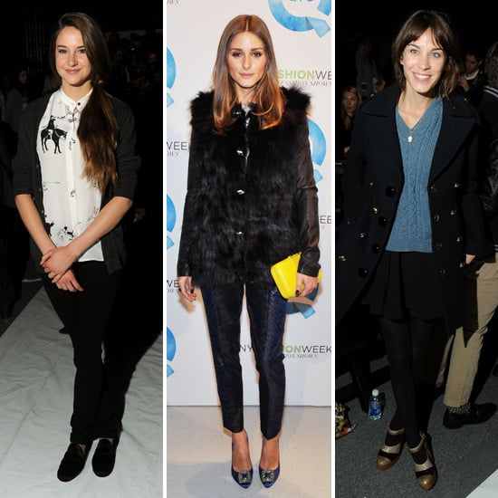 Front Row Celebrity Pictures at 2012 New York Fashion Week: Alexa Chung, Shailene Woodley, Olivia Palermo