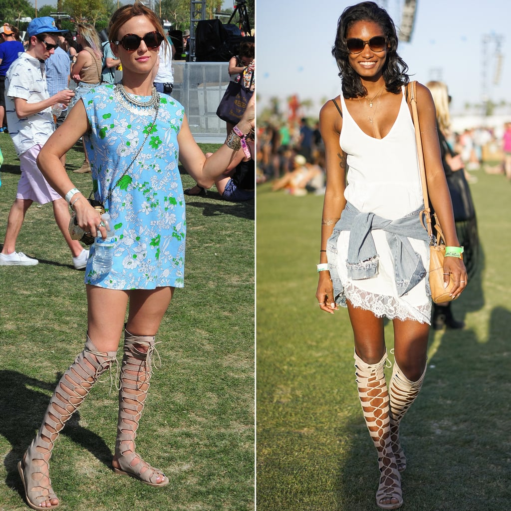 How to Wear Knee-High Gladiator Sandals | POPSUGAR Fashion
