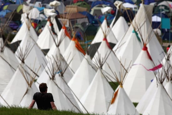 Get the Look: The Tipi Field at Glastonbury Festival