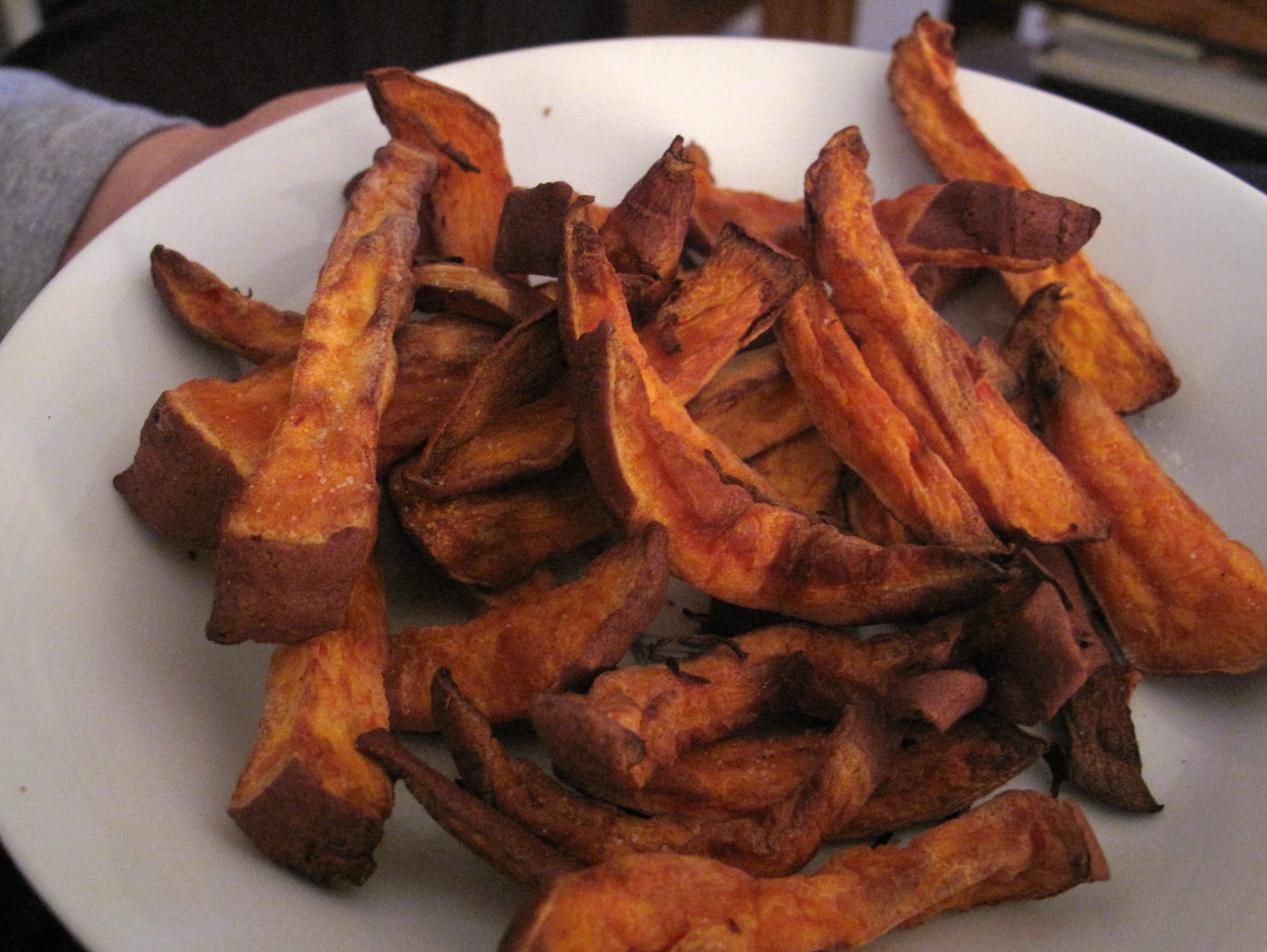 Sweet potato fries went on trial, too.