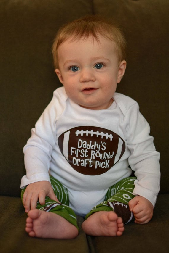 Daddy's First Round Draft Pick Onesie