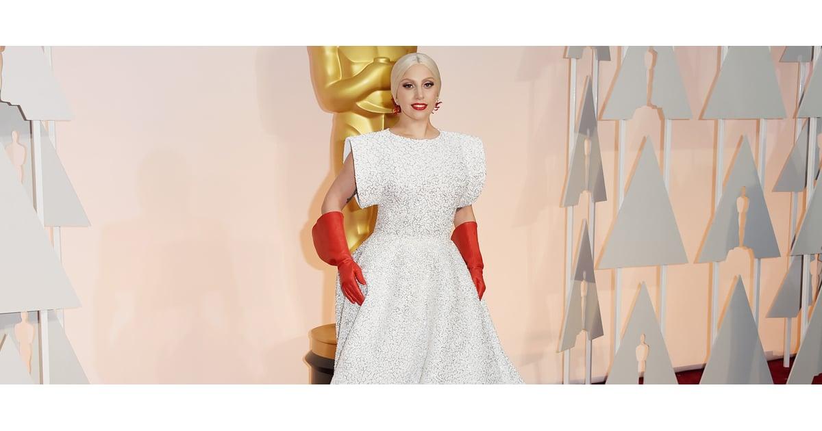 Lady Gaga Wore Dish Gloves to the Oscars | POPSUGAR Fashion UK