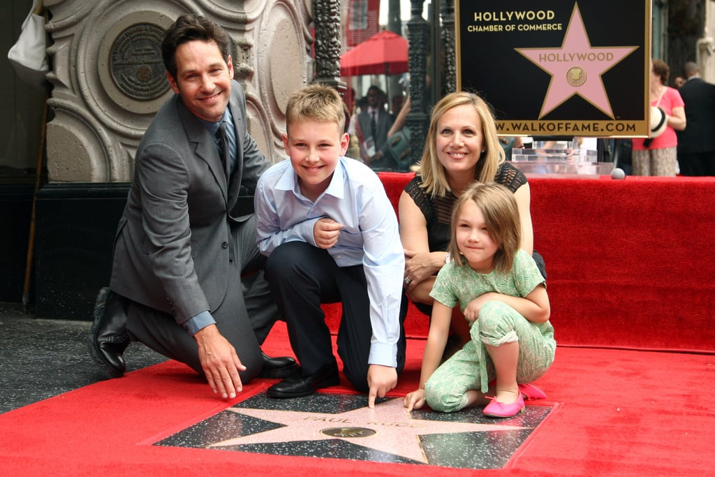 Paul Rudd With His Family on the Hollywood Walk of Fame ...
