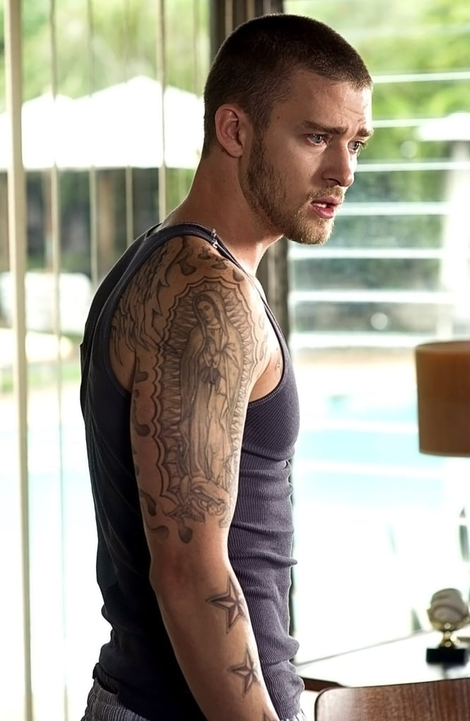 Remember his tattooed look in Alpha Dog?