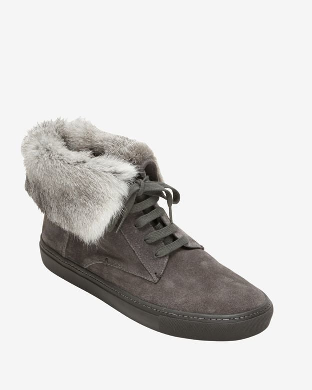 Vince Nyack Suede Rabbit Fur High-Top Sneaker ($350)