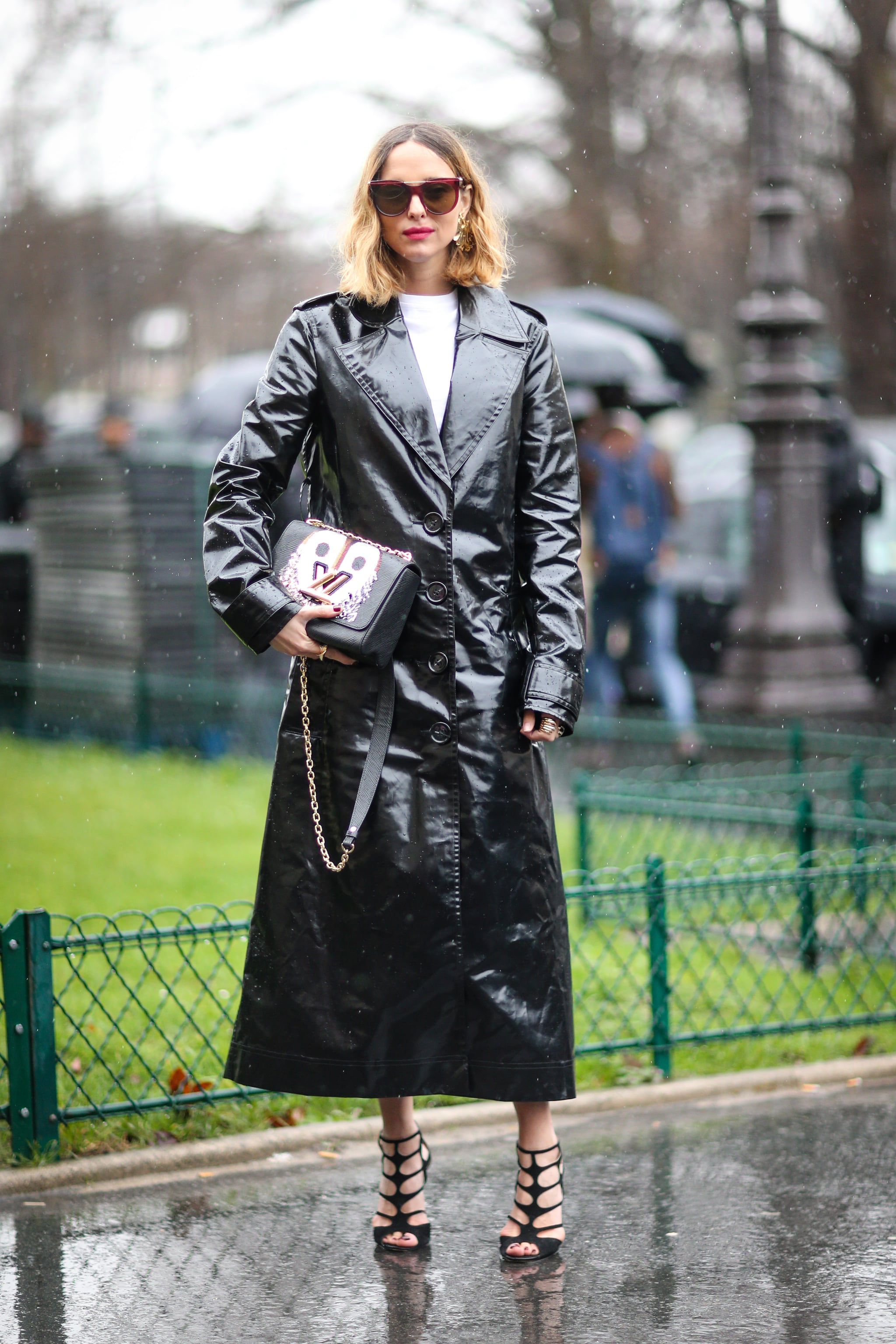 Shiny Leather Trench | 9 Street Style Trends You'll Wear For the Rest of 2017 | POPSUGAR Fashion Middle East Photo 8