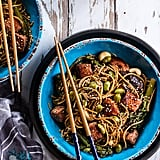 Sake and Ginger Soba Noodle Salmon Stir-Fry
