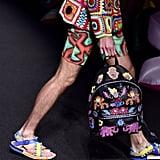 Models Toted Embellished Backpacks