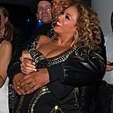 Jay Z held Beyoncé close at the MTV Europe Music Awards in November 2009.