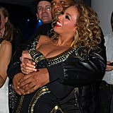 Jay Z held Beyoncé close at the MTV Europe Music Awards in November 2009.