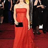 Natalie Portman looked stunning in a polka-dot vintage Dior gown for the Oscars in February 2012.