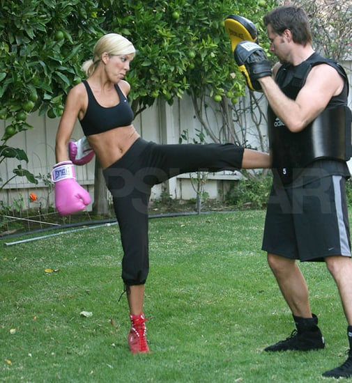 Tori Spelling Kickboxes with Husband Dean McDermott