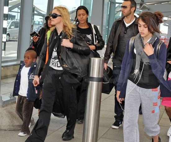 Slide Photo of Madonna and Her Kids at Heathrow