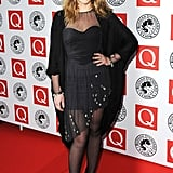 Charlotte Church wore an asymmetric dress with Carvela ankle boots.
