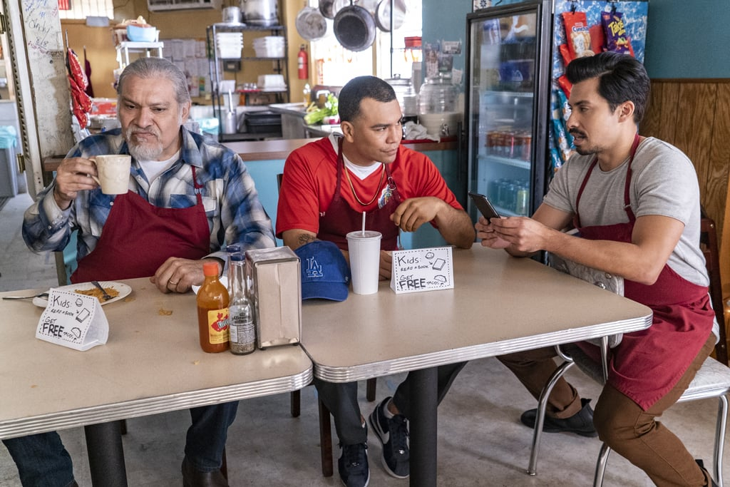 If you've ever yearned to know the proper way to pronounce Latinx, Netflix's newest family comedy is ready to ease your mind. Gentefied, the bilingual series adapted from a 2017 Sundance film of the same name, follows three Mexican-American cousins as they struggle to chase the American dream while working at their family taco shop. But as they pursue their passions, that very dream threatens the things they hold dear: their home in the Los Angeles neighborhood of Boyle Heights, their grandfather, and their beloved shop.  First-generation writers Marvin Lemus and Linda Yvette Chávez helm the half-hour dramedy, which will navigate pressing themes like class, identity, love, and the displacement that disrupts it all. The lively trailer gives just a taste of the Morales family dynamic, but we're instantly hooked. Each cousin brings a different struggle to the table: the innovative chef trying to make his mark on the restaurant industry while helping his family; the aspiring painter trying to juggle her passion, her daughter, and her girlfriend; and the devoted grandson with some commitment issues. Despite their differences, they have one thing they're willing to do anything for: their family. With a stellar cast led by Joaquín Cosío, Karrie Martin, JJ Soria, and Carlos Santo — in addition to guest appearances by America Ferrera and Wilmer Valderrama, who serve as executive producers — the series will  debut on Netflix on Feb. 21. Watch the hilarious trailer ahead, and check out some photos from the first season!      Related:                                                                                                           70+ New Movies and Shows on Netflix That Are Perfect For Your February Date Nights