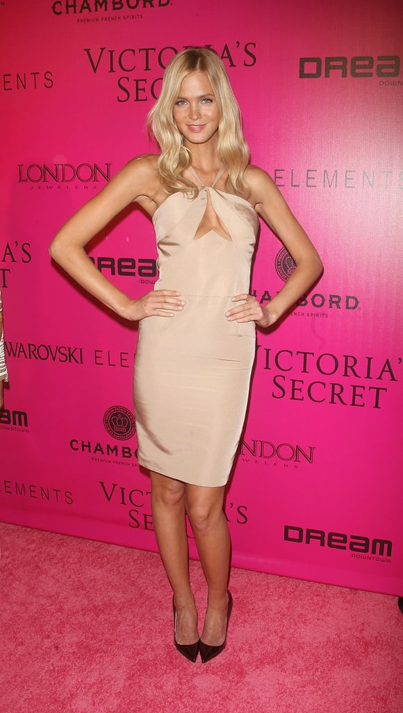 Erin Heatherton looked amazing in a skin-tight dress at the Victoria's Secret Fashion Show afterparty.