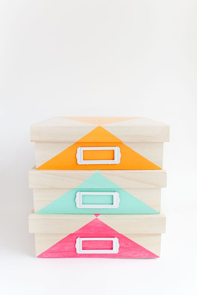 Paint Your Own Storage Boxes & Paint Your Own Storage Boxes | Bedroom Storage Ideas | POPSUGAR Home ...