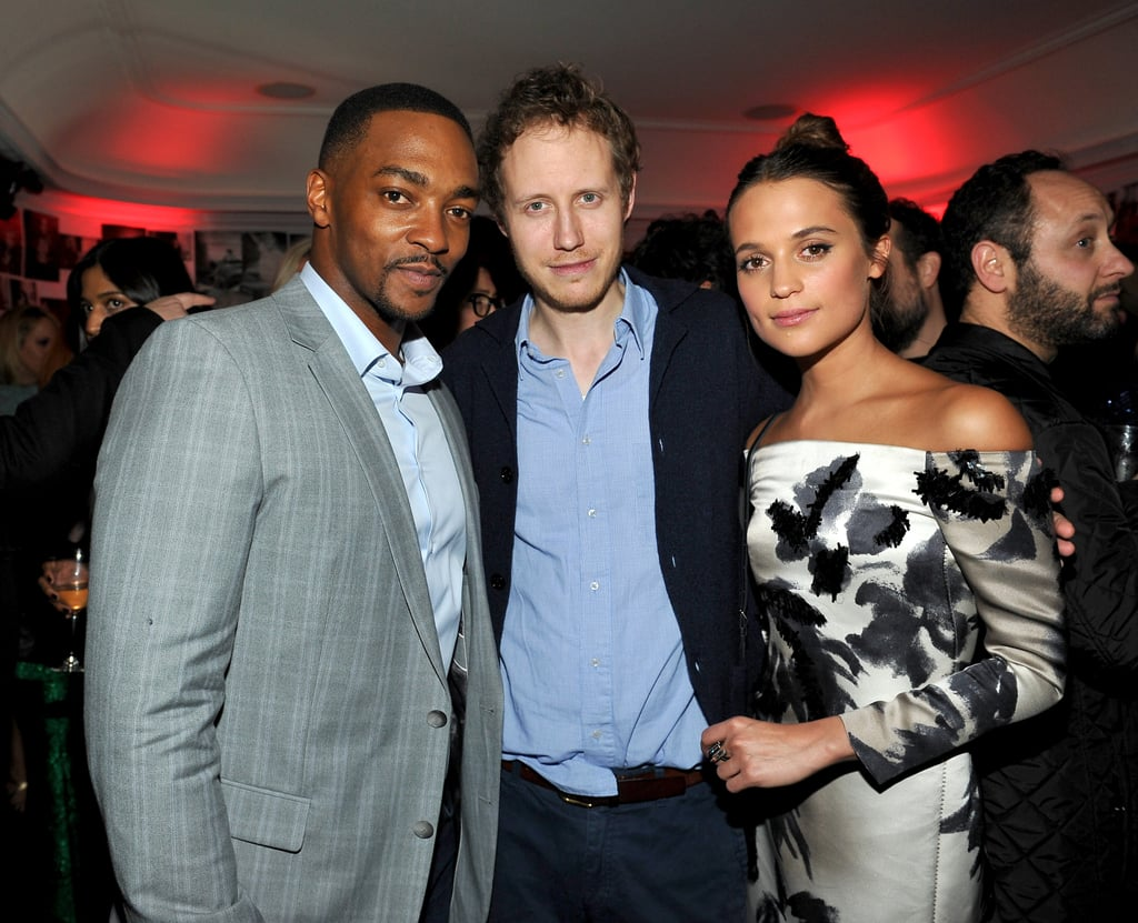 Pictured: Anthony Mackie and Alicia Vikander