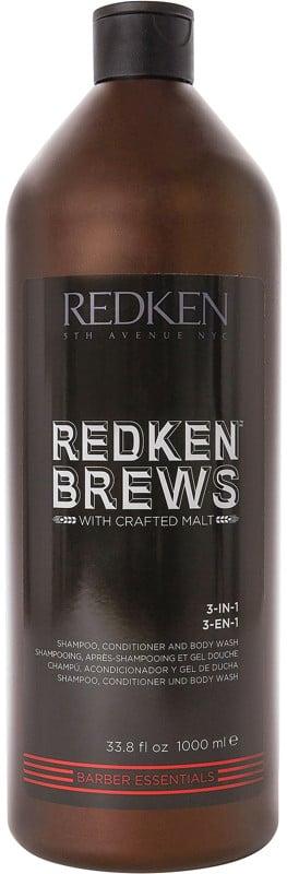 Redken Brews 3-in-1 Shampoo, Conditioner and Body Wash