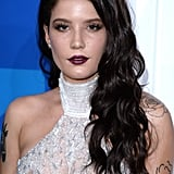 Halsey With Long Black Waves