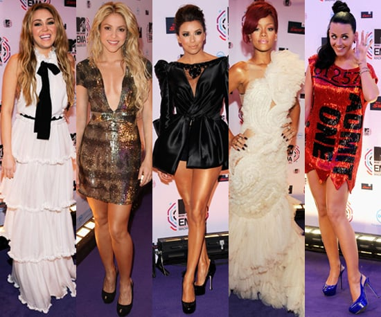 Photos of Best Dressed Celebrities at the 2010 MTV Europe Music Awards in Madrid