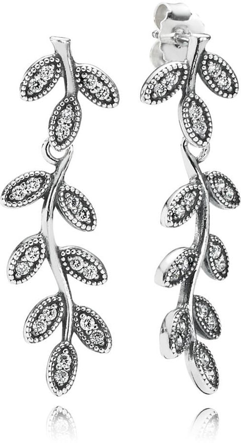 Pandora Sparkling Leaves Statement Earrings