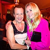 Chelsea Handler posed with Richard Simmons at her holiday party. Source: Facebook user Chelsea Handler