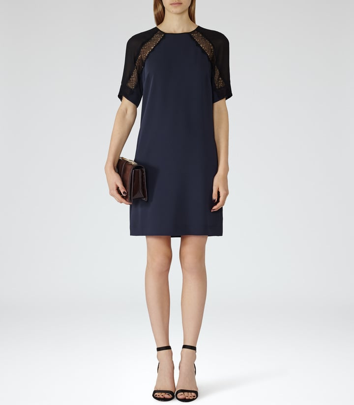 reiss karlotta lace detail dress beautiful winter