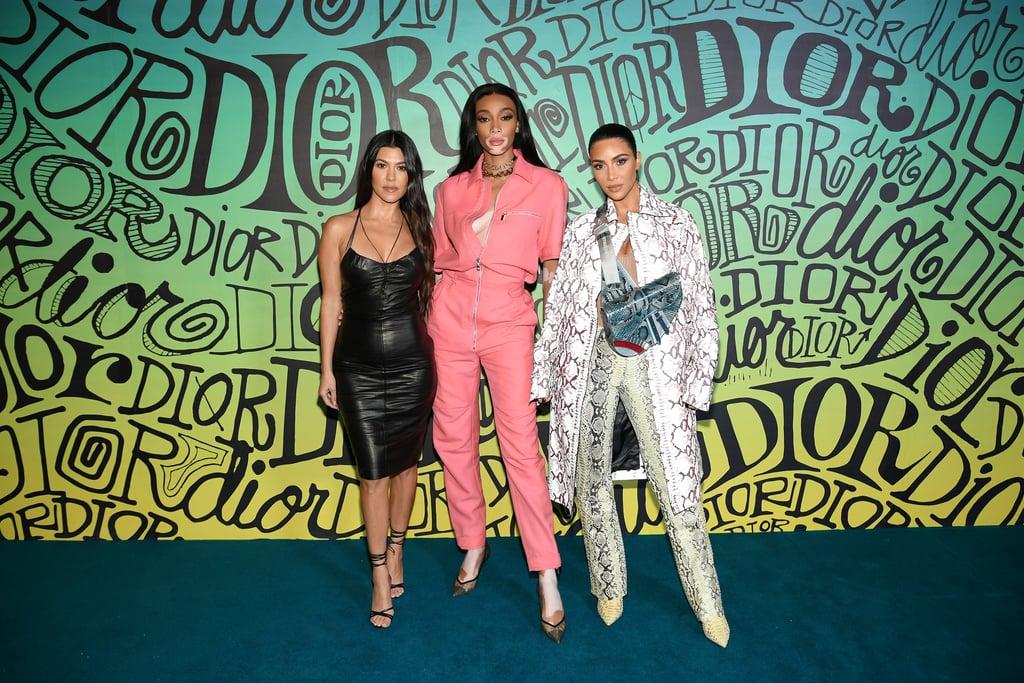 Kim Kardashian's Dior Snakeskin Outfit at Menswear Show