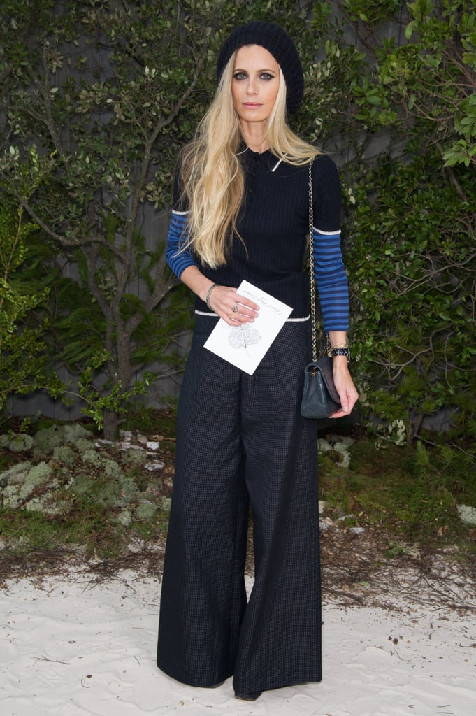 Laura Bailey dared to try the wide-leg silhouette but kept it slim-fitting and simple everywhere else at Chanel.