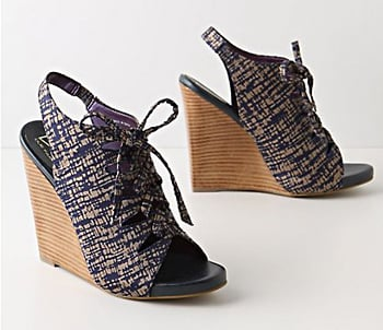 Sketched Lace-Up Wedges Anthropologie, $158