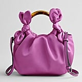 Elizabeth and James Ring Handle Satin Crossbody Bag