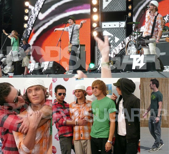 Exclusive To PopSugar UK: Photos Of McFly Backstage And On Stage At T4 On The Beach 2008