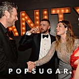 Pictured: Justin Timberlake, Jessica Biel, and Blake Shelton