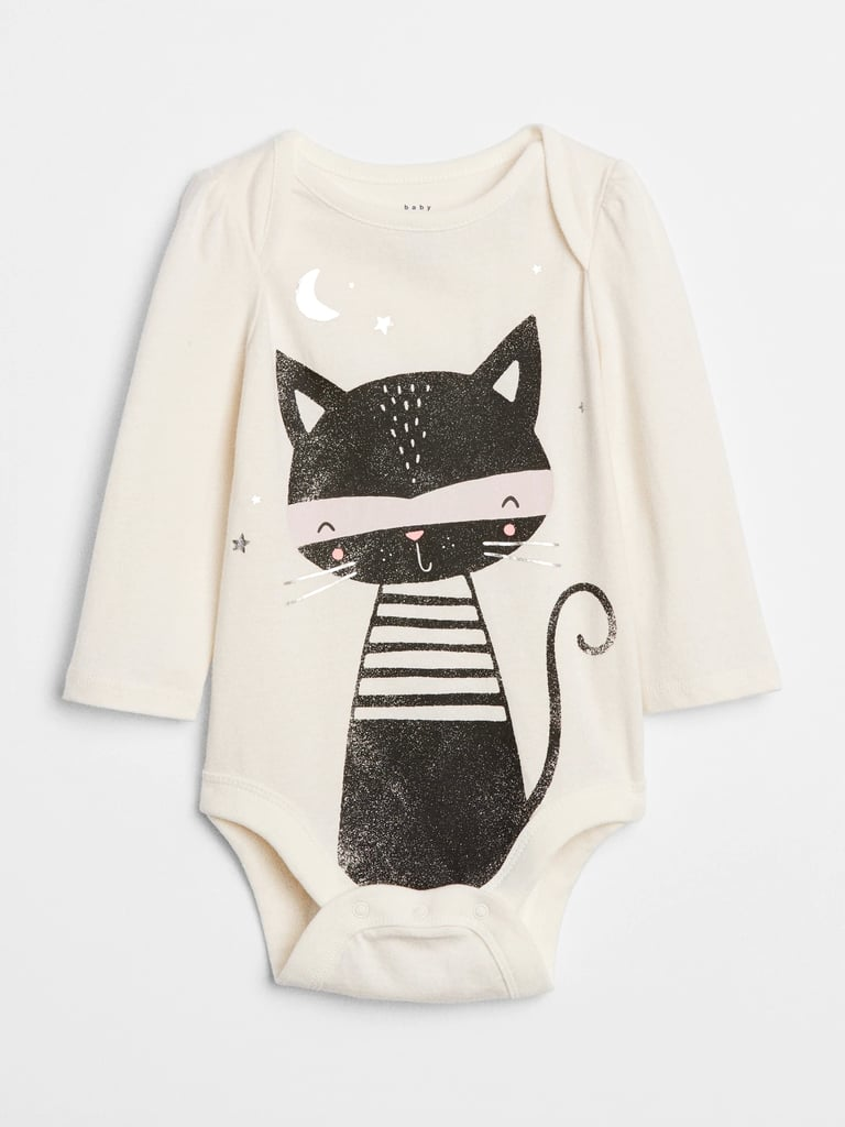 gap black cat bodysuit | halloween clothes for kids 2018 | popsugar