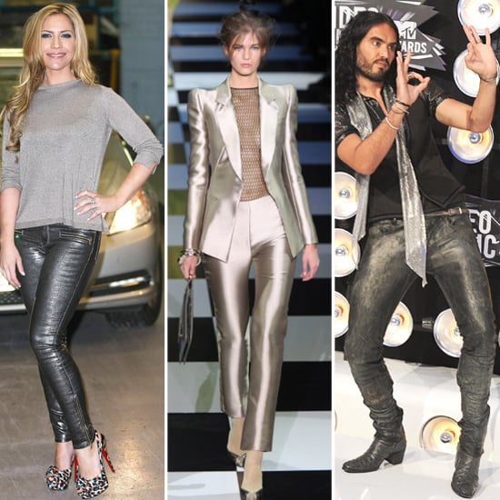 Heidi Range, Russell Brand Silver Pants Style