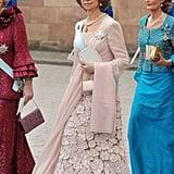 Queen Sofía in a Blush Gown, June 2010