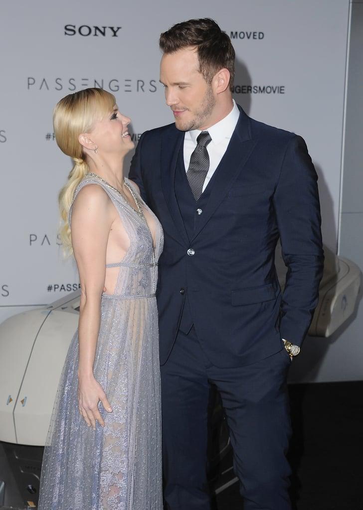Anna Faris and Chris Pratt Stuck Close Together at the LA Premiere of Passengers