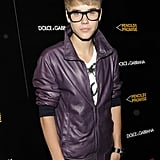 A bespectacled Justin Bieber hit the red carpet for a Dolce & Gabbana event in 2011.