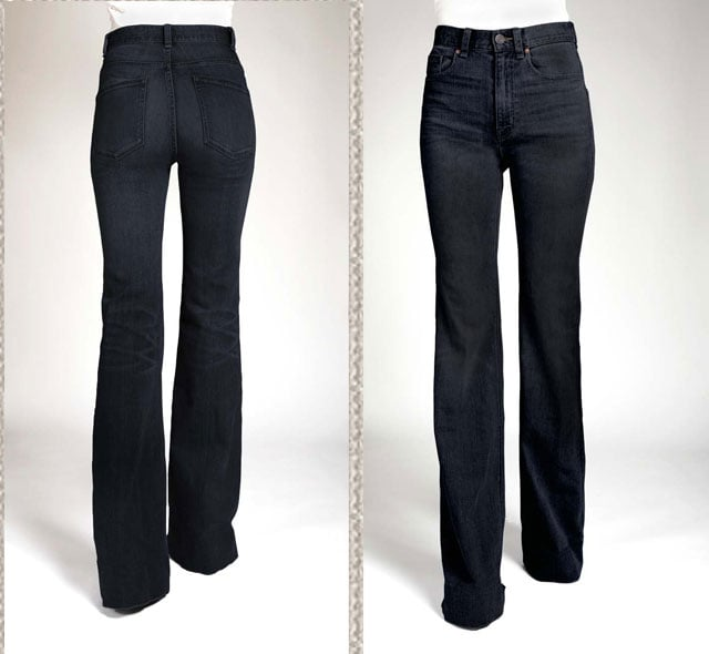 '70s Flare Jean in Deep Crease Wash, $198