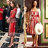 But They Know a Peplum Frill Also Complements Bold Red Prints