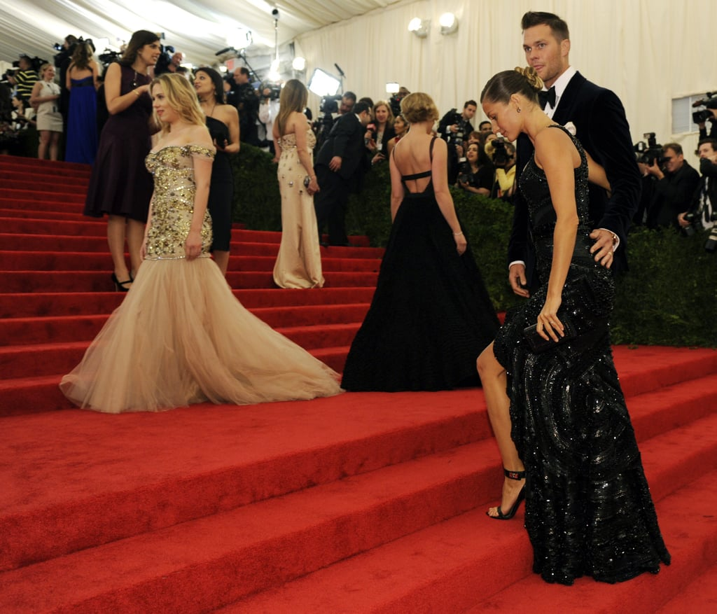 Gisele Bundchen made her way up the stairs of the Met Gala with Tom Brady.